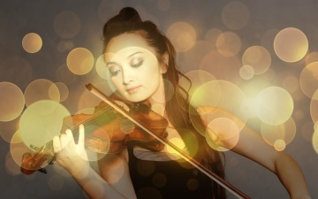 violin, pretty girl, woman, beautiful, portrait, young, art, person, fashion, music, light, face