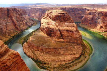 canyon, desert, water, food, geology, sandstone, river, landscape, valley