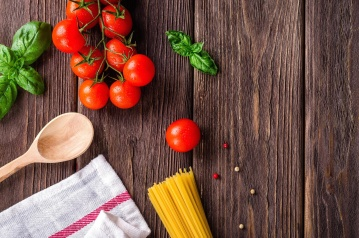 wooden, wood, food, table, rustic, spice, vegetable, nutrition, tomato, basil