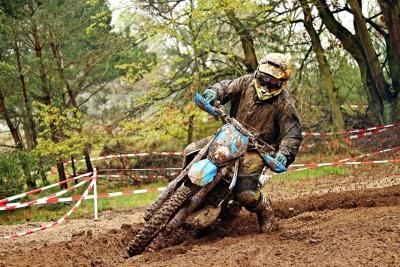 sol, course, sport, boue, action, moto, casque