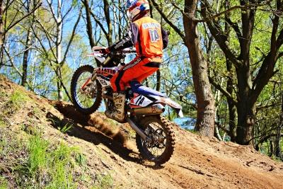 azione, sentiero, avventura, biker, casco, corridore, corsa, ruota, moto