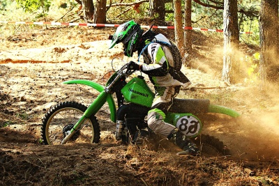 motocross, soil, mud, sport, motorcycle, vehicle, man, race, forest
