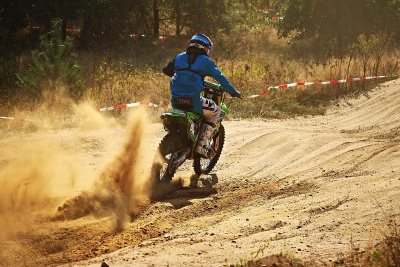 Motocross, course, compétition, véhicule, action, biker, sentier, sport, people