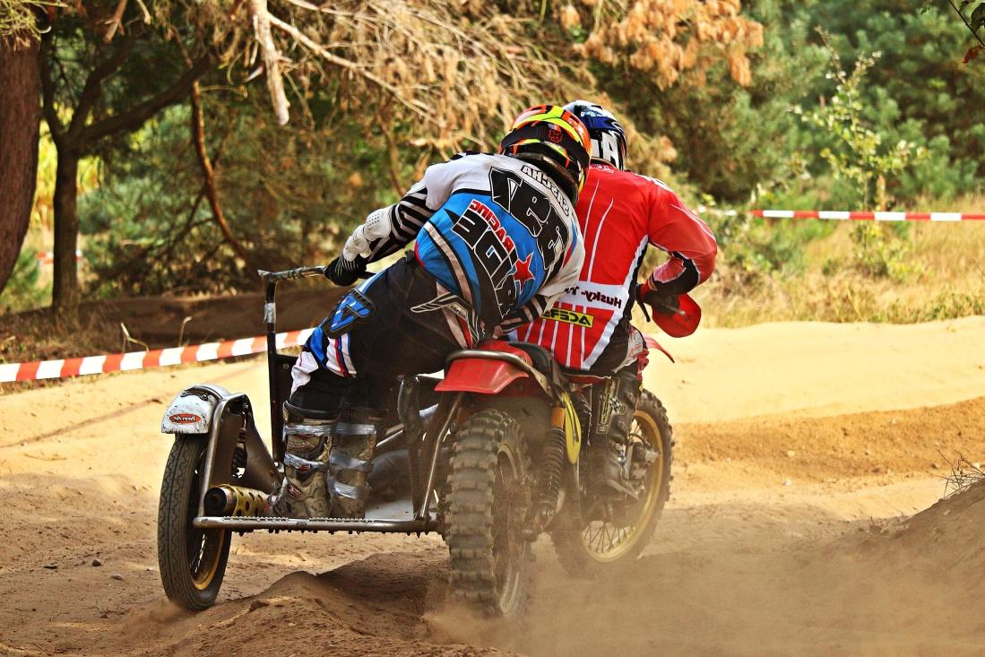 triciclo, motocross, corsa, suolo, concorrenza, veicolo, azione, auto, moto