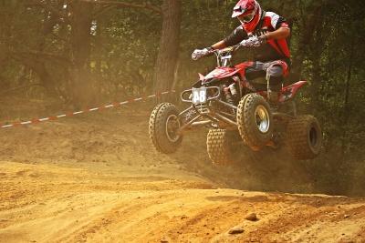 motociclo, veicolo, motocross, sport, salto, polvere, corsa