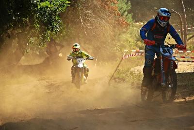 competition, vehicle, people, race, biker, action, helmet, dust