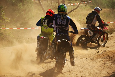 competition, vehicle, race, people, dust, man, motorcycle, sport, motocross