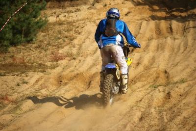 avventura, persone, terreno, moto, sport, motocross, polvere, natura