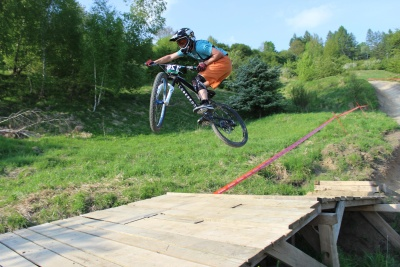bicycle, vehicle, jump, sport, race, mountain bike