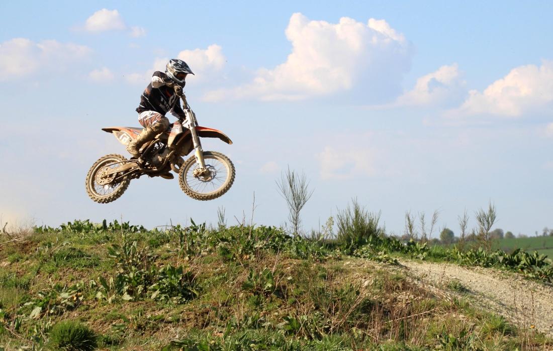 saut, moto, sport, sport, rapide, motocross, casque, moto, véhicule