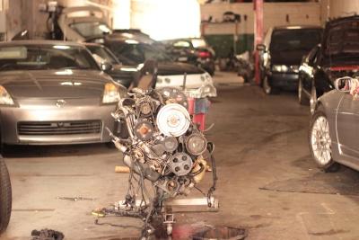 coche, vehículo, ruedas, coche, motor, motor, garaje, industria, reparación