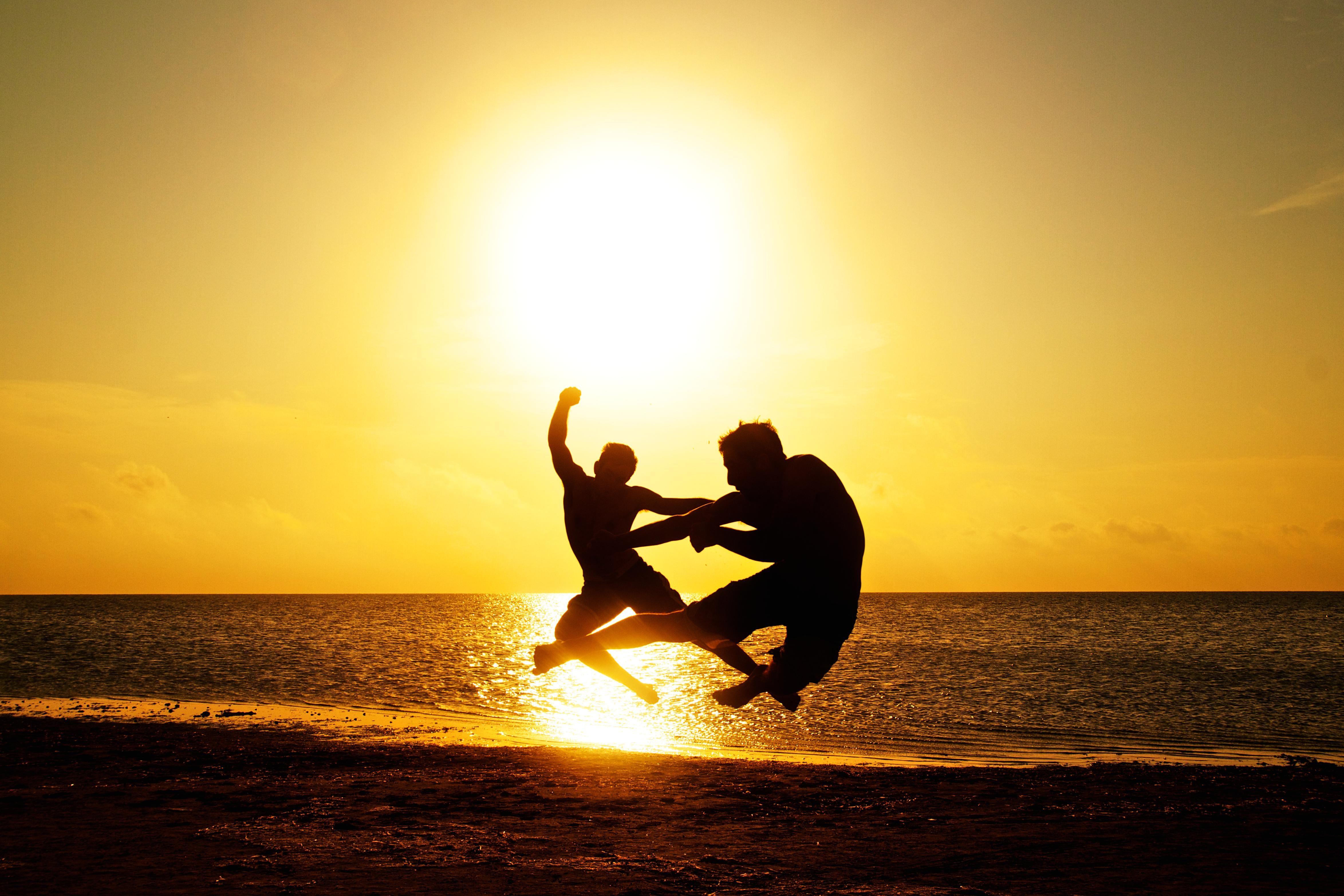 Free Picture Sunset Beach Sun Sea Ocean Water