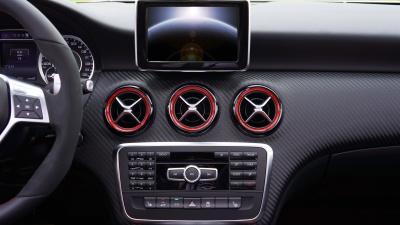 coche, vehículo, tablero de instrumentos, velocímetro, coche, automóvil