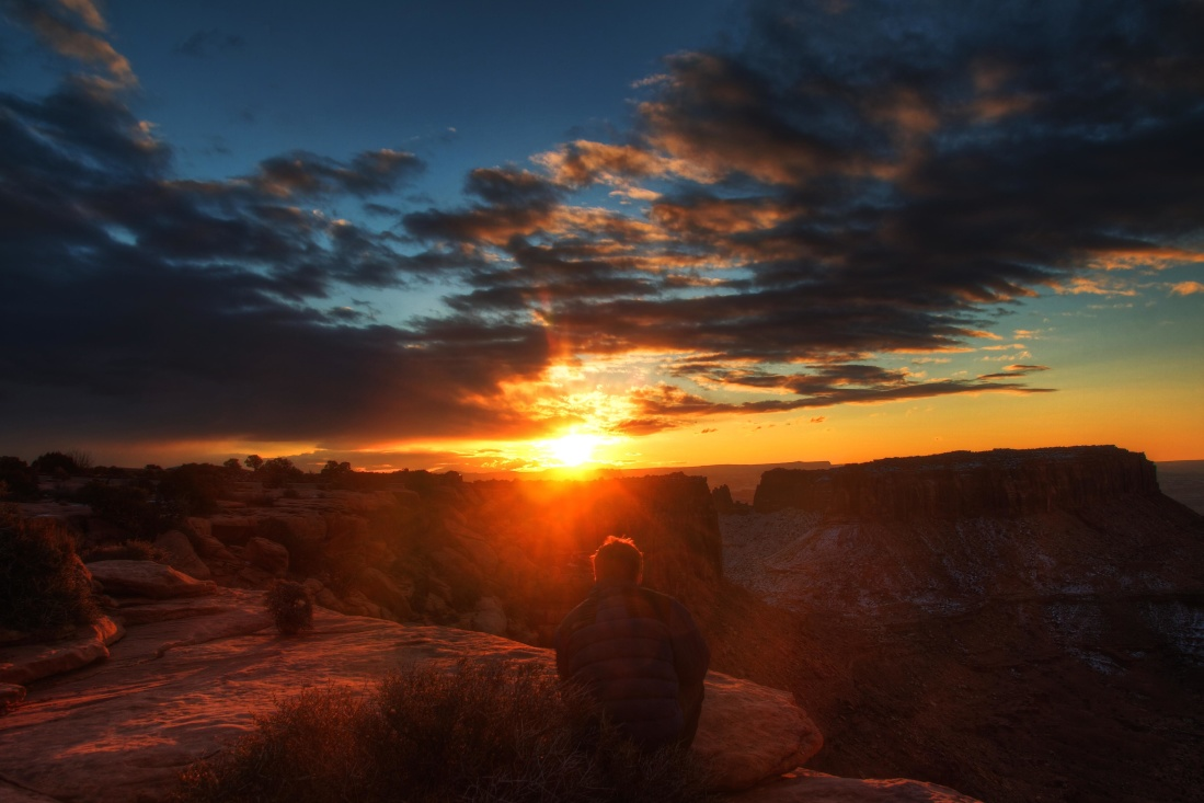 sunset, dawn, dusk, landscape, desert, sun, star, sunrise