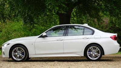 car, vehicle, automobile, sedan, white, transportation, speed, luxury