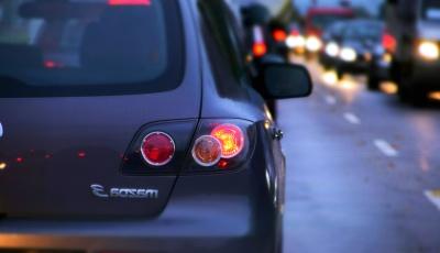 coche, vehículo, tráfico, camino, espejo, calle