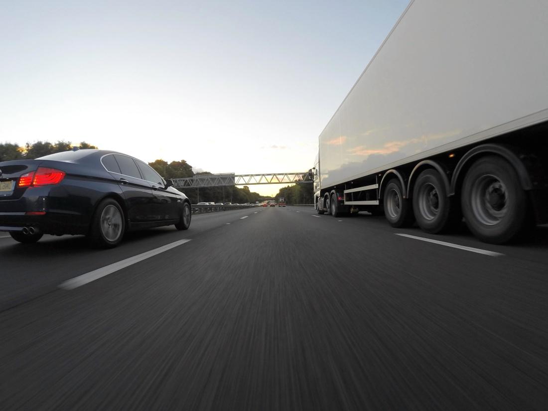 car, asphalt, road, vehicle, trailer, truck, transportation, transport