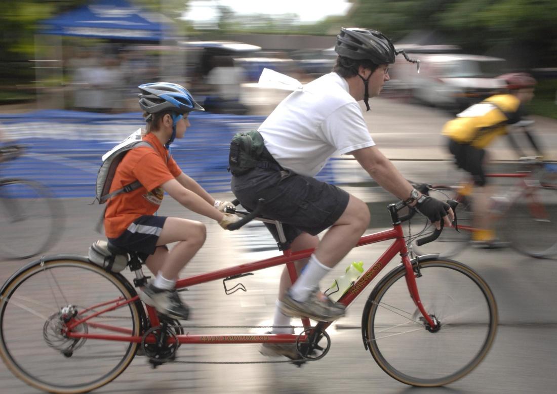 cycliste, roue, biker, course, compétition, route, véhicule, homme, gens