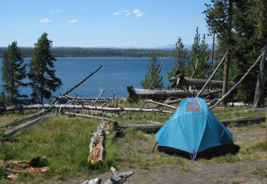 tent, landscape, nature, forest, lake, camping, shelter, structure