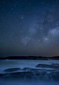 al chiaro di luna, astronomia, cielo, mare, paesaggio, mare, acqua, orizzonte, notte