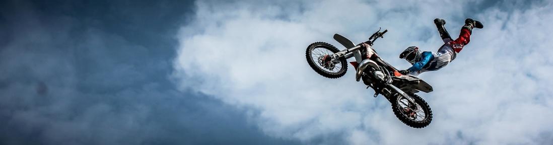 cielo, veicoli, moto, sport, salto, motocross, nube