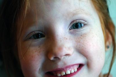 barn, flicka, porträtt, ansikte, människor, leende, söta, makeup