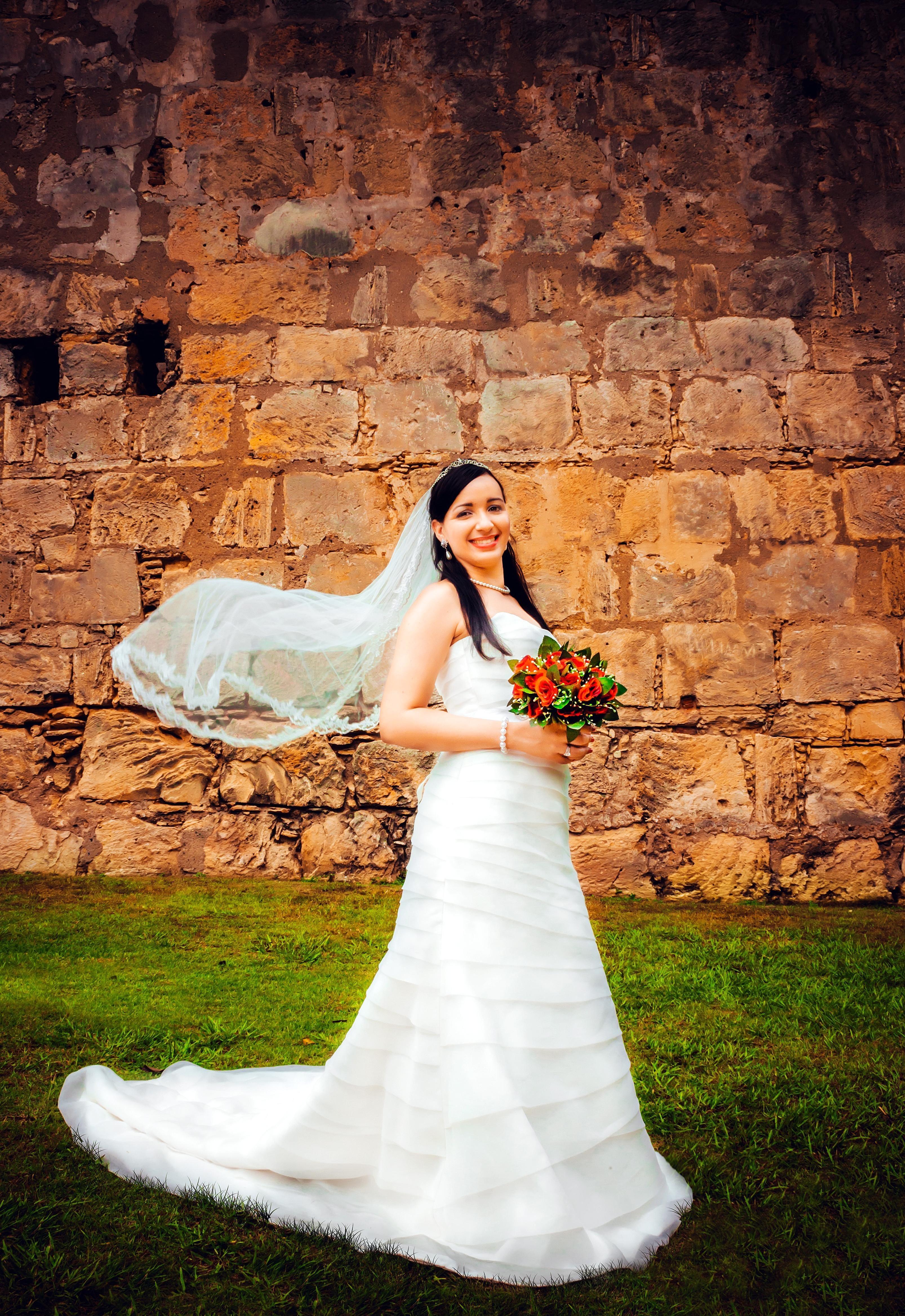 Kostenlose Bild: Braut, Mädchen, Kleid, Schleier, Frau, Porträt ...
