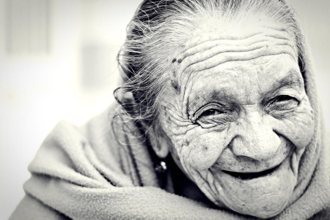 πορτρέτο, άνθρωποι, ηλικιωμένοι, ρυτίδων, κατάθλιψη, Γέροντα, παλιά, πρόσωπο, γυναίκα, μονόχρωμη