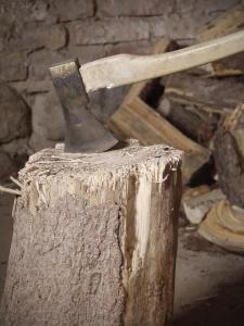 wood, steel, tools, hand tool, axe, wood