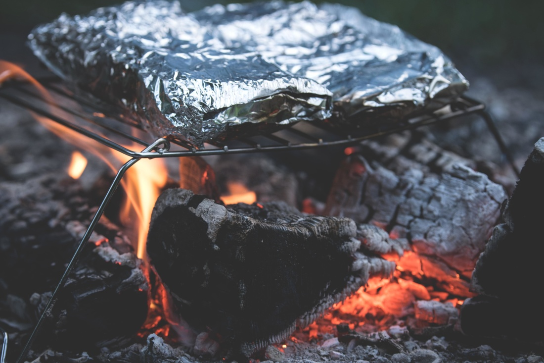 plamen, ugljen, ugljen, logorska vatra, pepeo, dima, topline, krijes