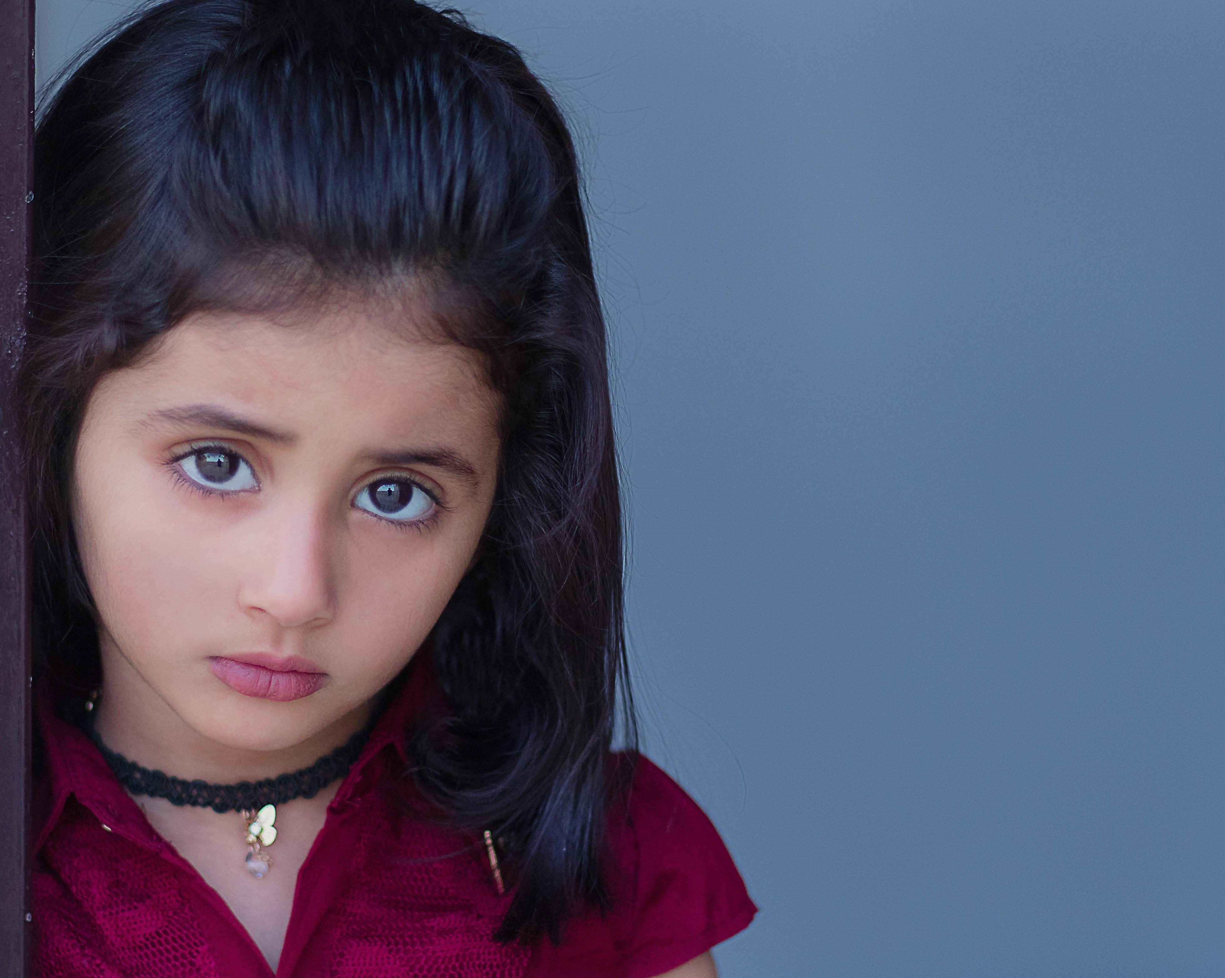 Free Picture Child Eye Girl People Cute Glamour