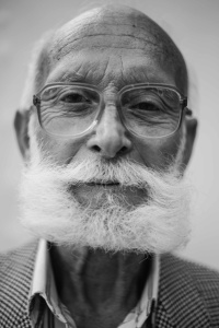 portrait, man, beard, people, mustache, face, monochrome