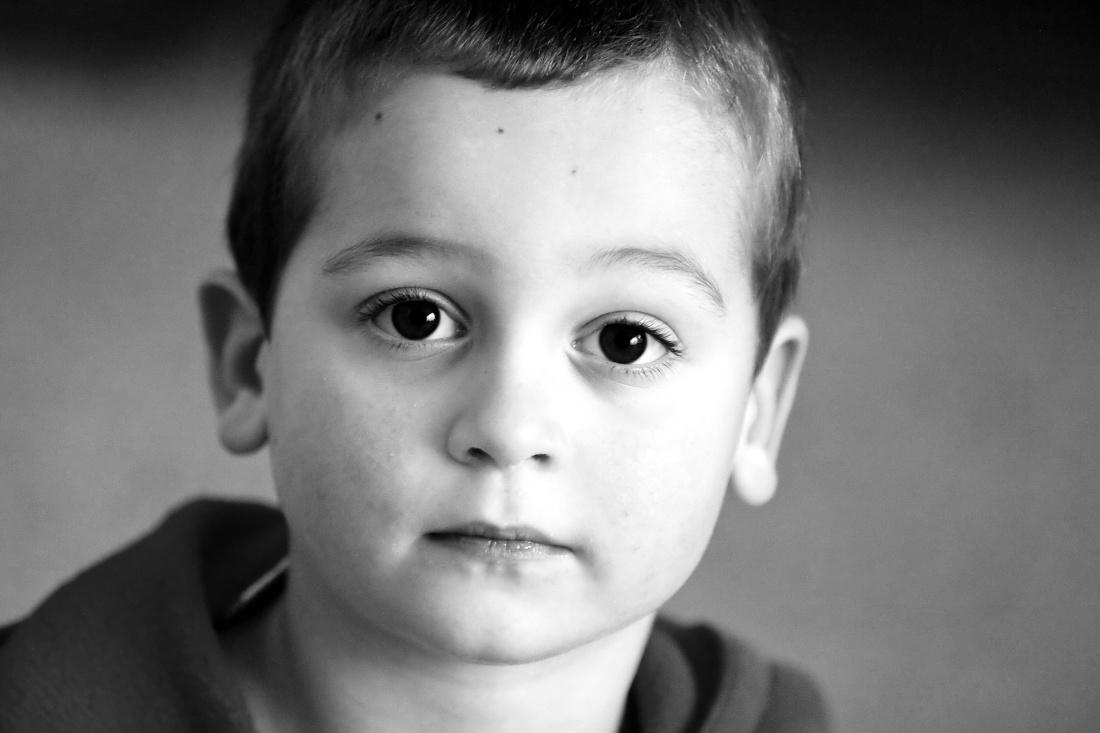 barn, monokrom, portræt, mennesker, søde søn, øjet, person, ansigt