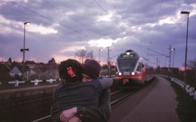 ceste, vozila, ulice, željezničke stanice, ceste, dečko, djevojka