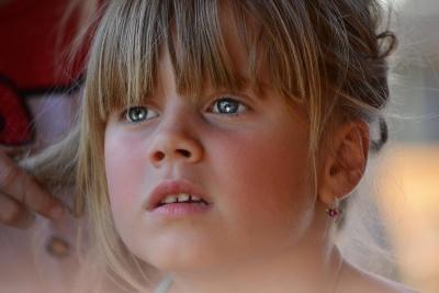 bambino, ragazza, ritratto, persone, volto, persona