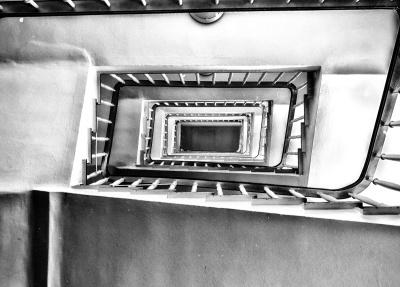 konst, svartvitt, retro, interiör