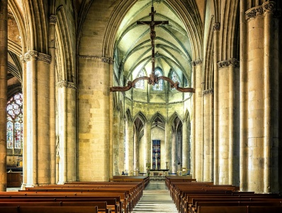 chapel, religious, insidechurch, cathedral, religion, architecture, indoors, bench, altar