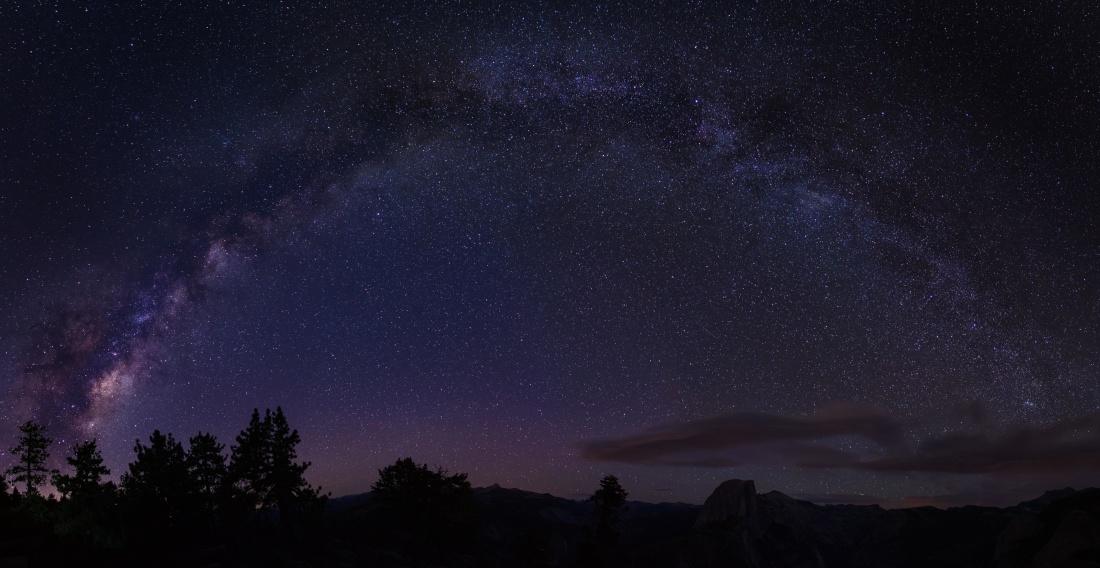 астрономия, небо, Луна, Галактика, темно, ландшафт, атмосфера, ночь