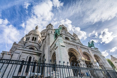 architecture, church, religion, cathedral, sky, city, fence, exterior