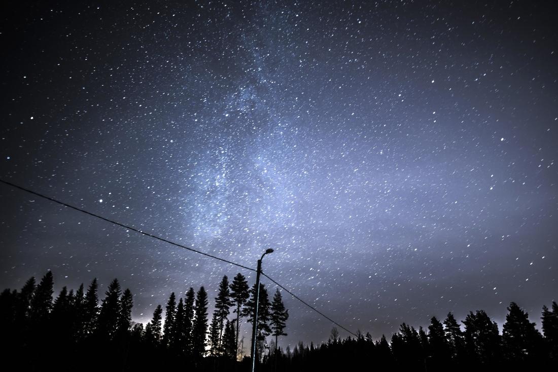 cielo, al chiaro di luna, astronomia, natura, galassia, paesaggio, buio, paesaggio