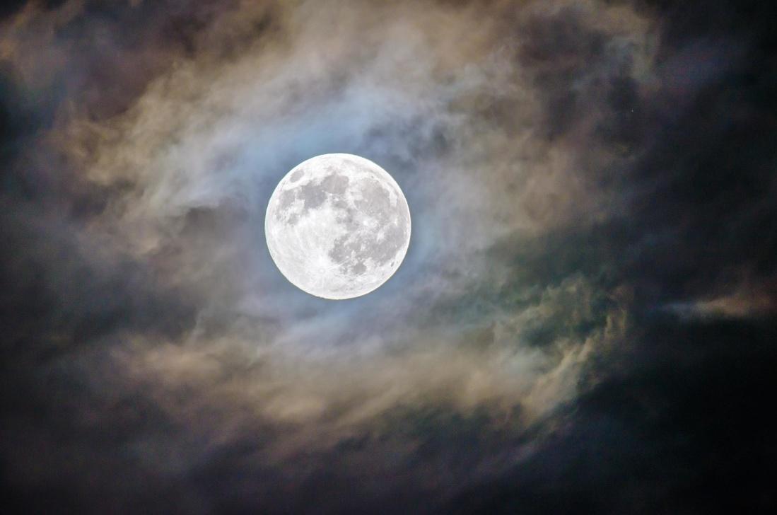 Månen, astronomi, sky, klode, månen, solen, eclipse, nat, natur