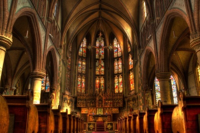 church, cathedral, architecture, religion, art, dark, altar, ceiling