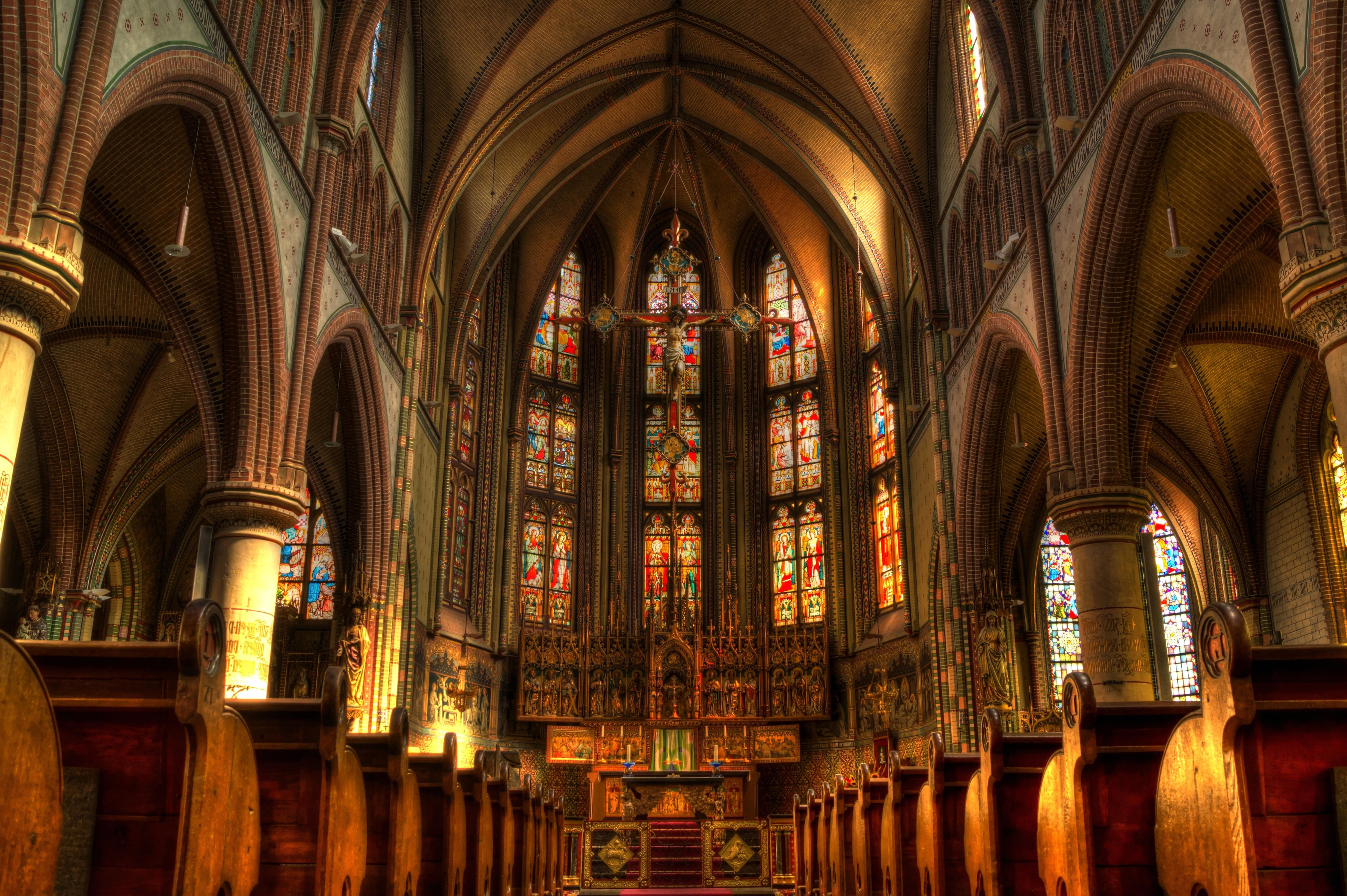Church Cathedral Architecture Religion Art Dark Altar Ceiling