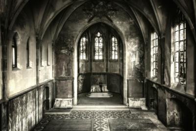 architecture, interior, monochrome, art, religion, Gothic