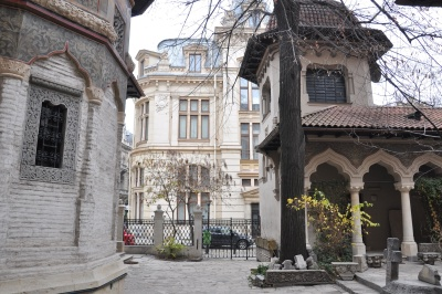 архитектура, стара, града, забележителност, екстериор, градски, християнин, манастир