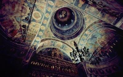 религия, изкуство, дизайн, архитектура, древни, византийски, стар, мозайка