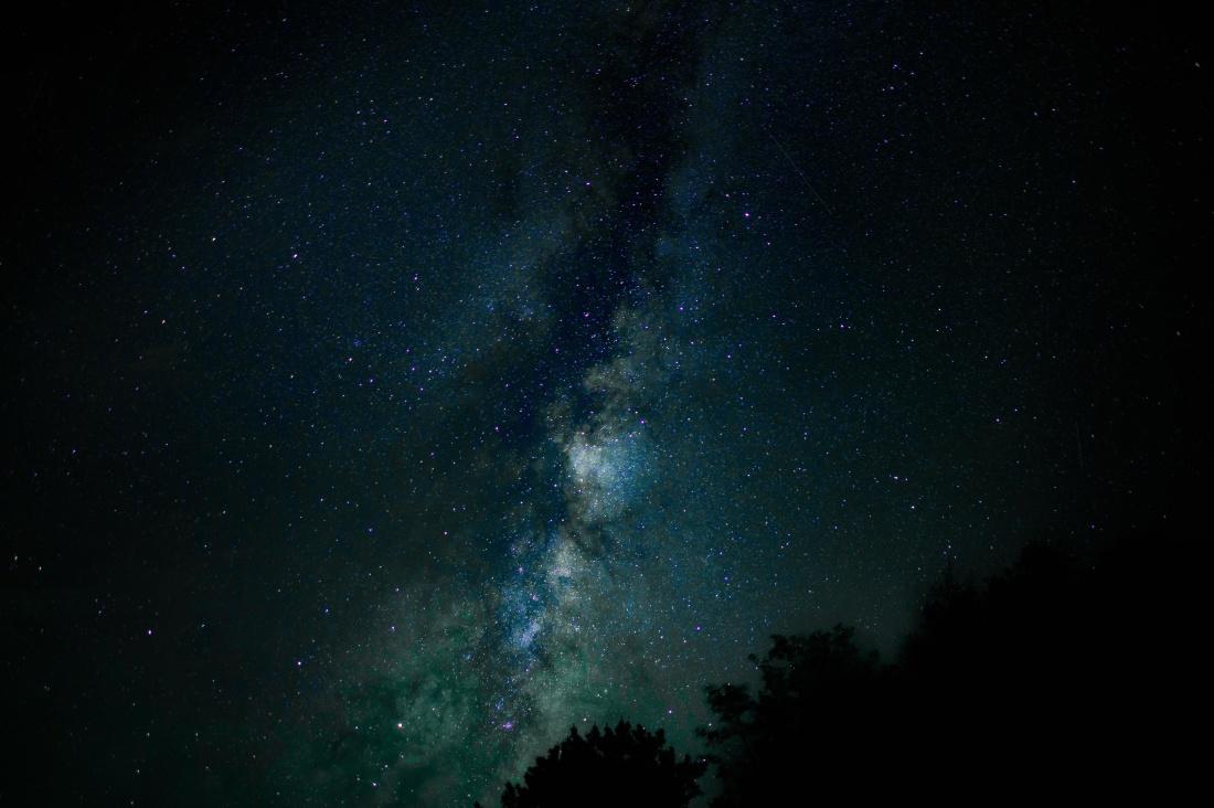 astronomie, Melkweg, nacht, sterrenbeeld, maanlicht, astrologie