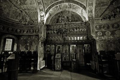 Византийски, православна, архитектурата, църквата, закрито, религия, възраст, дъга