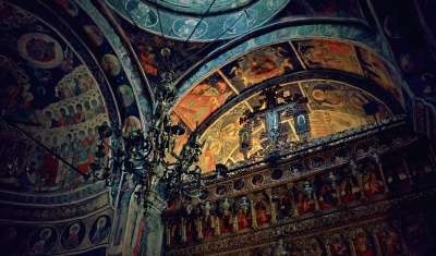 art, religion, church, fresco, architecture, cathedral, old, altar