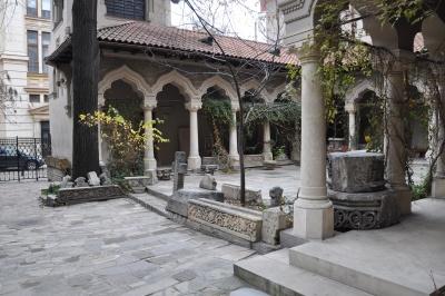 Architektúra, nádvorí, arch, vchod, pravoslávnych, byzantských,